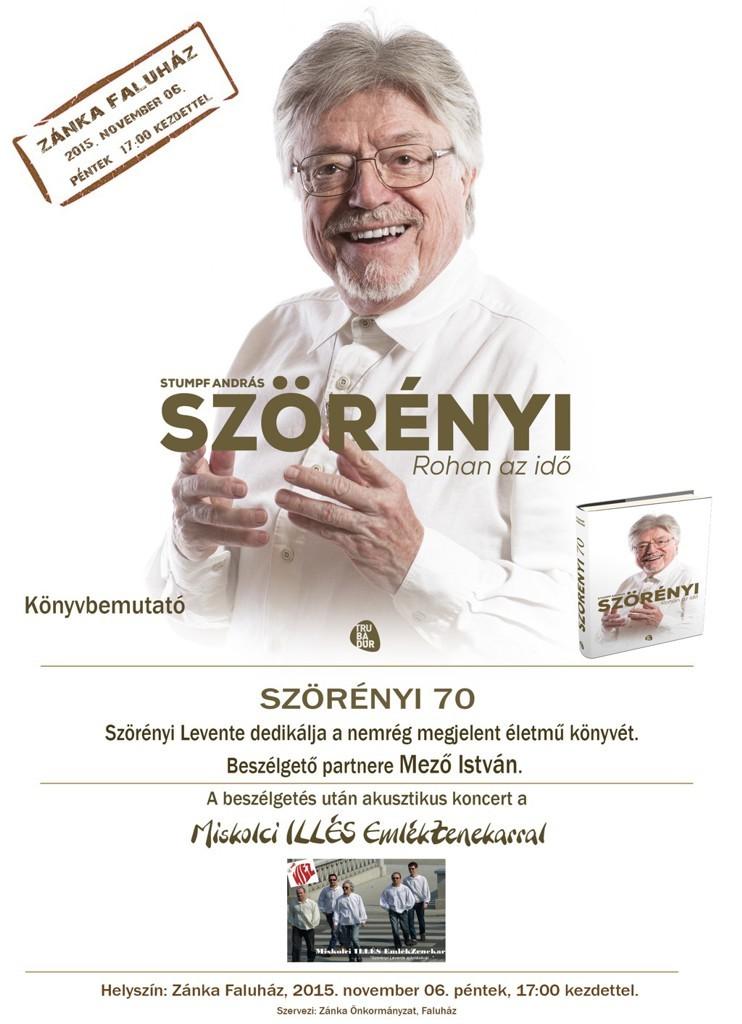 2015 Szörényi Levente Zánkán - plakát
